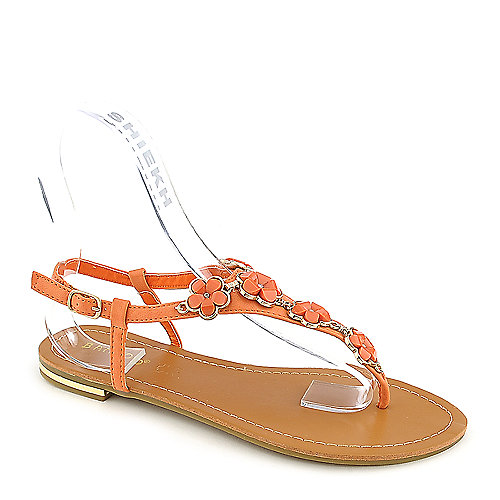Bamboo Bryson-01 orange flat thong sandal