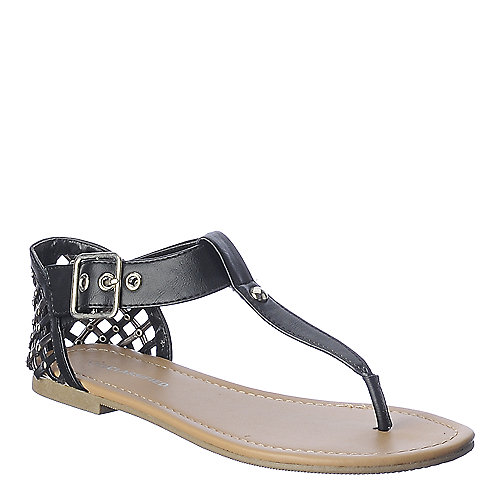 City Classified Apple-S black thong flat sandal