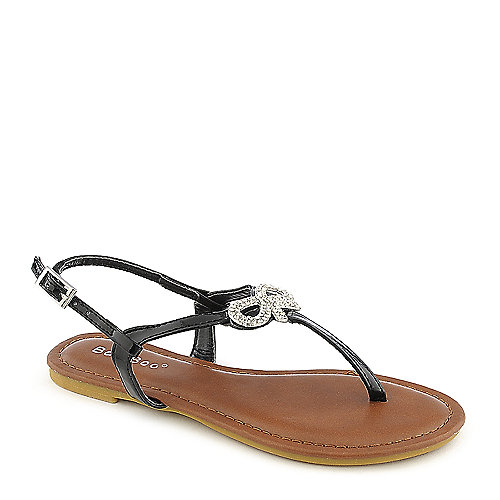 Bamboo Madalyn-08K kids black sandal