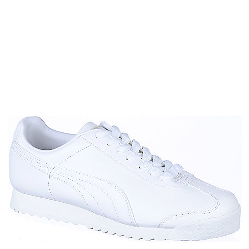 Puma Mens Roma white athletic lifestyle sneaker