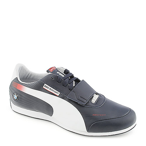 Puma Mens Evo Speed low navy athletic lifestyle sneaker