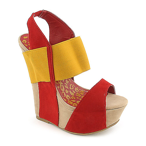 Dollhouse Rigorous color block platform wedge