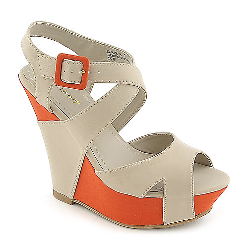 Bamboo Smooch-34 stone platform wedge