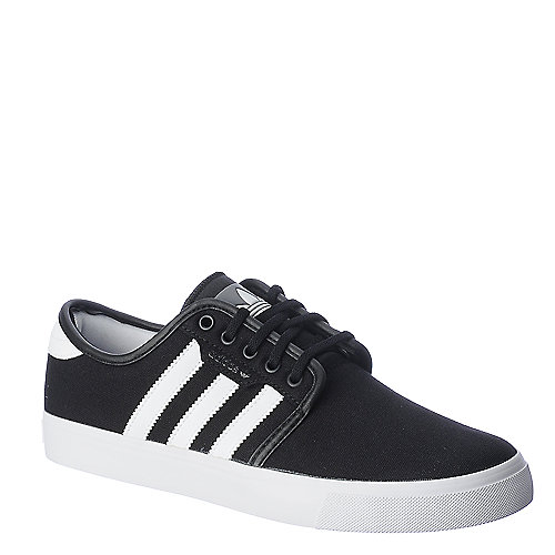 Adidas Seeley black and white lifestyle skate sneaker