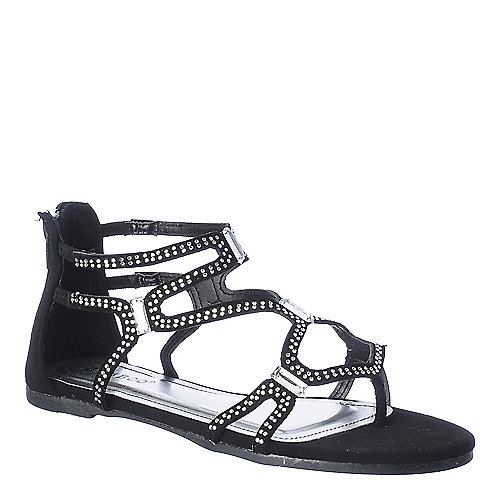 Bamboo Cope-13 womens flat jeweled gladiator strappy thong sandal