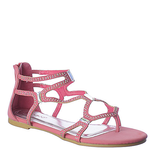 Bamboo Cope-13 jeweled flat gladiator sandal
