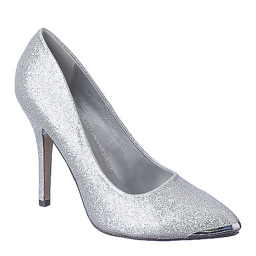 Shiekh Daber-S silver high heel pump