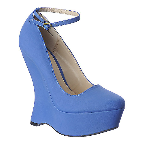 Bamboo Whistle-01 blue platform wedge pump
