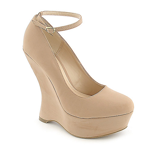 Bamboo Whistle-01 nude platform wedge pump