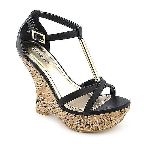 bamboo slimmer 07 s black casual wedge shoe shiekh