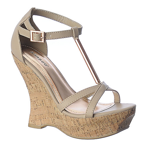 Bamboo Sli8mmer-07 platform wedge casual shoe