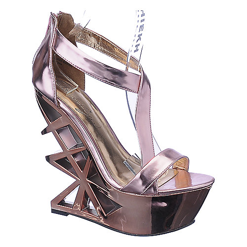 Privileged Disco platform wedge dress shoe