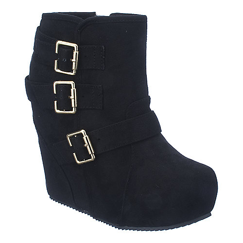 Shiekh Besso-S womens black platform ankle wedge boot