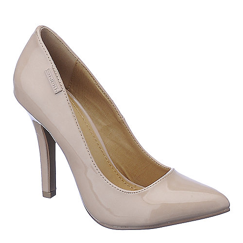 Shiekh Womens Mellina nude high heel dress shoe