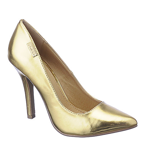 Shiekh Mellina gold high heel dress shoe