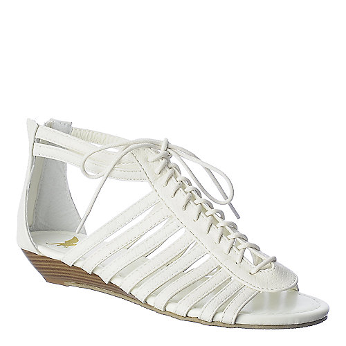Shiekh Simon-1A white gladiator wedge sandal