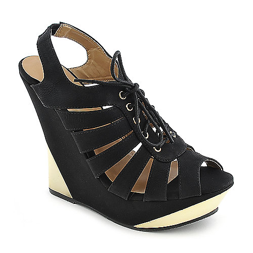 Glaze Verna-18 black platform wedge dress shoe