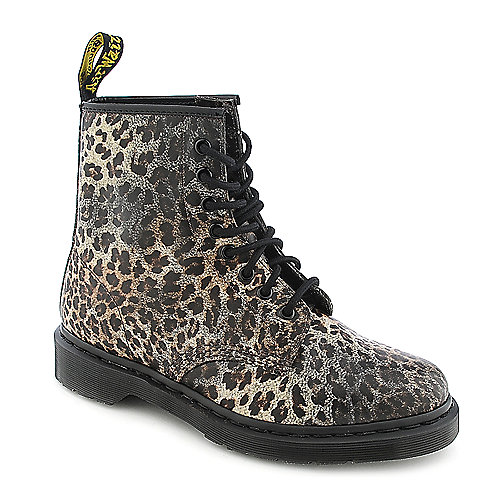 Dr. Martens Womens 1460 leopard 8 eye combat boot