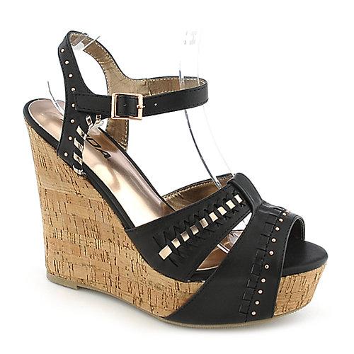 soda trant s black casual platform wedge shoe