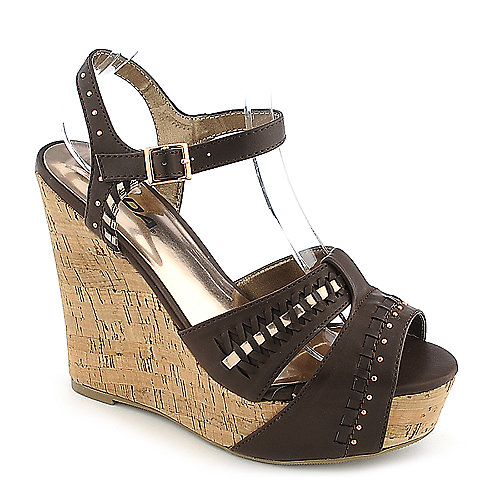 Soda Trant-S brown casual platform wedge shoe