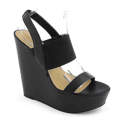 Soda Case-H black platform wedge