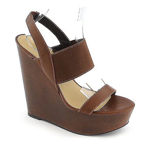 Soda Case-H tan platform wedge shoe