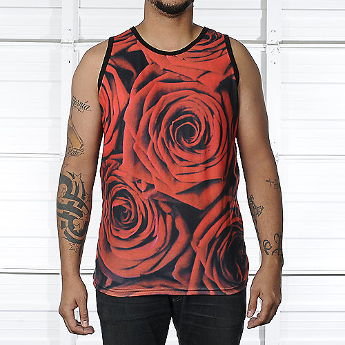 Shiekh Red Roses Tank mens clothes tanks