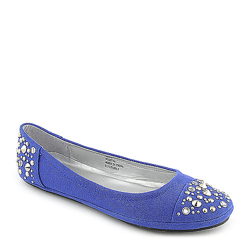 Soda Nordic-S casual royal blue flat slip on