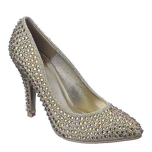 Shiekh Verona-02 gold high heel dress shoe