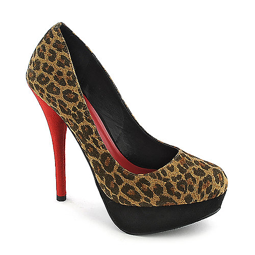 Delicious Jones-H platform animal print high heel