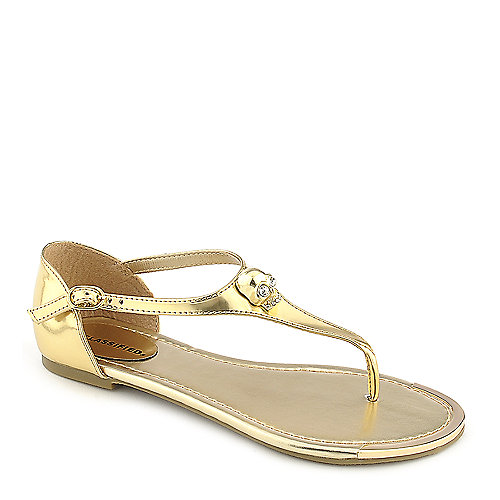 City Classified Merino-S gold flat thong sandal
