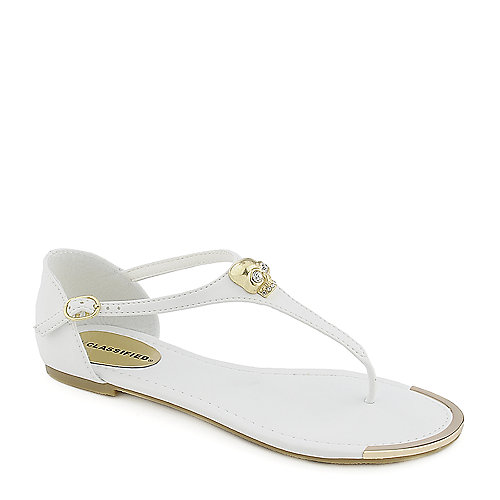 City Classified Merino-S white flat thong sandal