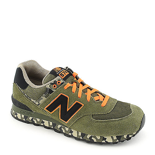 New Balance Mens ML574 camo athletic lifestyle sneaker