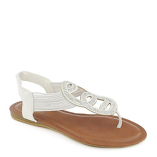 d21c78e814d8 Bamboo Mason-07 white flat thong sandal