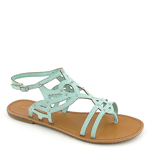 Bamboo Warner-42 mint green flat thong sandal