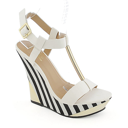 Glaze Verna-3 white platform wedge dress shoe