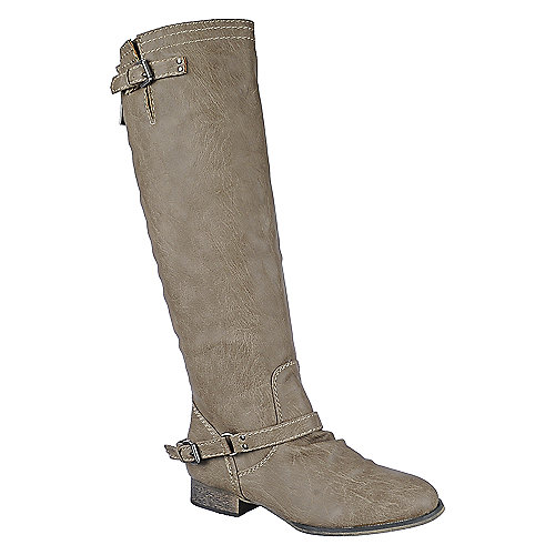 Breckelle's Outlaw-81 beige knee high riding boot
