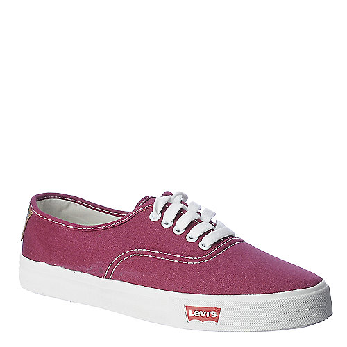 Levi's Jordy mens burgundy casual lace up sneaker