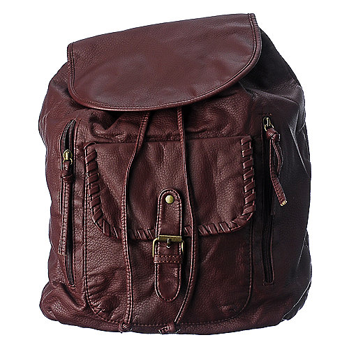 Under1sky red pu backpack