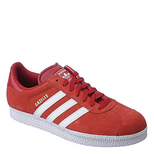 Adidas Gazelle II mens red an white athletic lifestyle sneaker