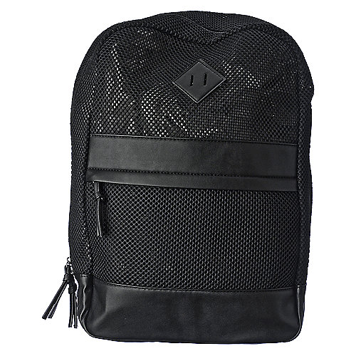 Nila Anthony black Mesh Backpack accessories backpack