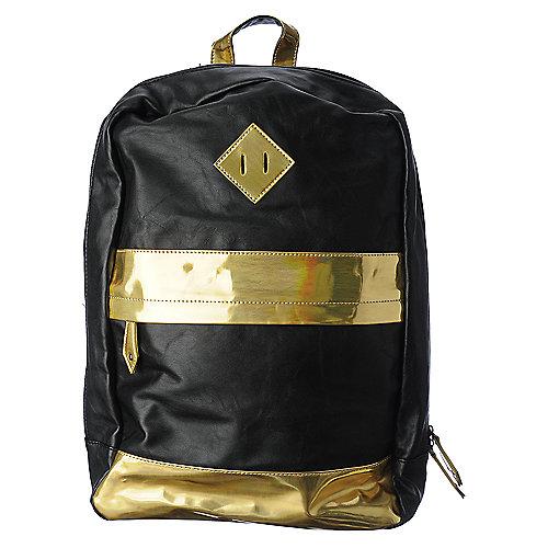 Nila Anthony Black & Gold Backpack | Shiekh Shoes