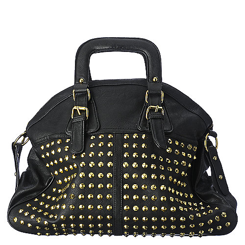 Shiekh black PU studded handbag