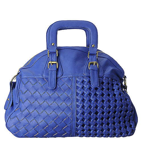 Shiekh weave handbag blue shoulder hobo handbag