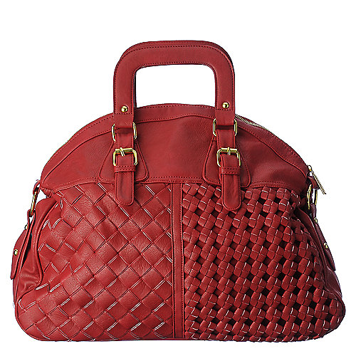 Shiekh weave handbag red shoulder hobo handbag