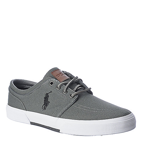 Polo Ralph Lauren Mens Faxon Low grey casual sneaker