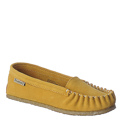 BearPaw Hanna mustard casual moccasin flat slip on shoe