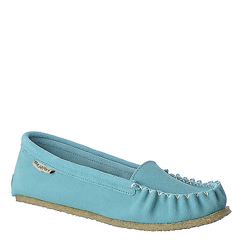 BearPaw Hanna turquoise casual moccasin flat slip on shoe