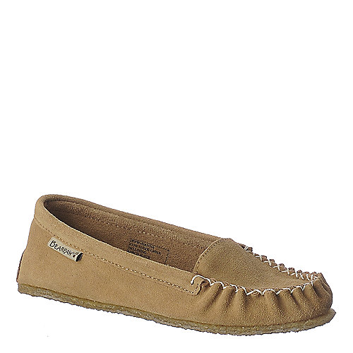 BearPaw Hanna tan casual moccasin flat slip on shoe