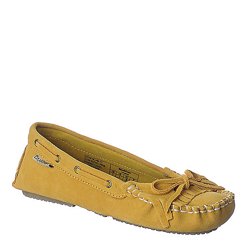 Bearpaw womens mustard casual flat slip on shoe